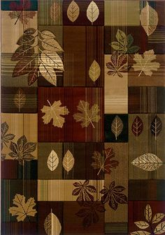 United Weavers Contours Lodge Area Rug Autumn Bliss Toffee Patchwork Leaves from PowerSellerUSA - Collection: Contours Lodge Rugs Style: Autumn Bliss Toffee S Rustic Rugs, Rustic Decor, Western Decor, Farmhouse Decor, Toffee, Home Decor Accessories, Decorative Accessories, Bliss, Geometric Rug