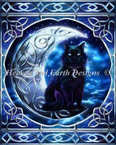 Midnight Moon Celtic Black Cat (HAED)