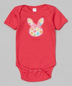 Look at this Fuchsia Bunny Face Bodysuit - Infant on #zulily today!