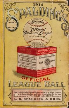 Poster for National League BALL 1914