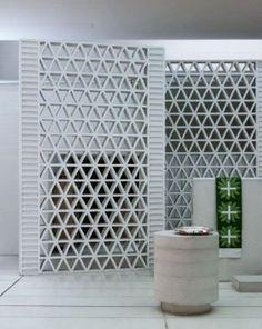 26 Ideas Brick Screen Facade Concrete Blocks For 2019 Decorative Concrete Blocks, Concrete Block Walls, Brick Block, Breeze Block Wall, Jorn Utzon, Boundary Walls, D House, Grey Walls, Copenhagen