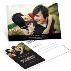 Save the Date Postcards -- As the Wind Blows Horizontal Photo