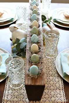 Soft and Lovely Easter Tablescape #easterdecor #tablescapes #springdecor #awonderfulthought