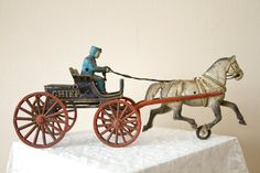 Early Cast Iron Toy Pair PD Chief and Fordson by oldnewhouse, $228.00