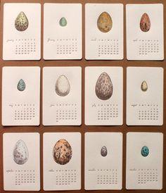 Design Work Life » Mink Letterpress: A Dozen Eggs 2013 Calendar