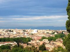 gianicolo - hill with a great view in rome