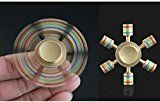 #3: Spin Wars – 6 Sided Metallic Fidget Spinner - Customizable, Glow in the Dark Anxiety, Stress Relief (Gold)