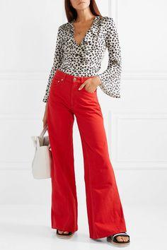GANNI   High-rise wide-leg jeans   NET-A-PORTER.COM