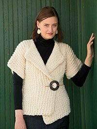 English Wool Cardigan Digital Crochet Pattern - featured in the Winter 2013 Issue of Love of Crochet magazine