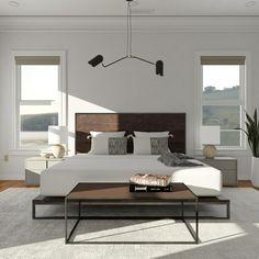 Modern Minimalist Minimalist Bedroom Boho, Minimal Bedroom, Minimalist Interior, Modern Interior Design, Modern Bedroom, Minimalist Design, Modern Minimalist, Master Bedroom, Home Interior Accessories