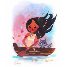Joey Chou — demo painting at Disney Pocahontas, Disney Nerd, Arte Disney, Disney Girls, Disney Love, Disney Magic, Disney Pixar, Disney Characters, Princess Pocahontas