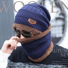 c5d49d3bd8d4c Men Warm Hats Cap Scarf 2016 Winter Wool Hat Knitting for men Caps Lady Beanie  Knitted Hats Womens hats Outdoor Sport War