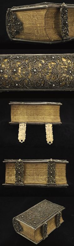 1690s book with filigree silver binding - National Library of Sweden