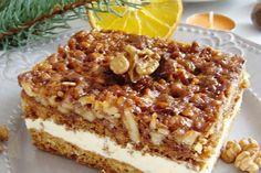 Miodownik pełen orzechów Chef Recipes, Dessert Recipes, Cooking Recipes, Polish Recipes, Dessert For Dinner, Food Cakes, Cake Cookies, Brunch, Food To Make
