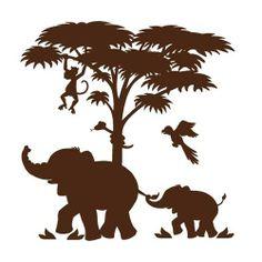 safari animal silhouette - Google Search