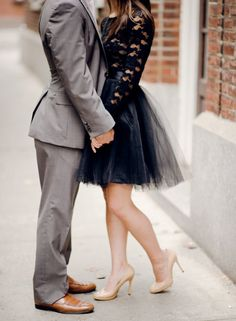 Pin for Later: 20 Gorgeous Style Ideas For a Winter Engagement Shoot Don't Be Afraid of a Princess Moment Photo by Rebecca Yale Portraits via Style Me Pretty