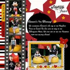 Image Search Results for disney scrapbook layouts
