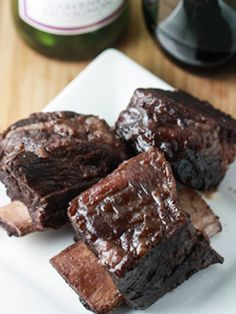 Slow Cooker Beef Short Ribs - In the crock pot now...we'll see how they turn out tonight!