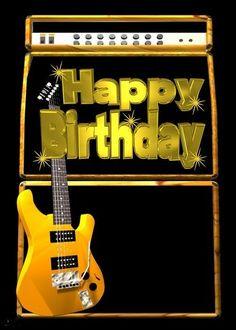 Happy Birthday Guitar, Hippie Birthday, Happy 15th Birthday, Happy Birthday Signs, Happy Birthday Pictures, Happy Birthday Messages, Happy Birthday Greetings, Birthday Gifts For Boyfriend Diy, Birthday Cards For Men
