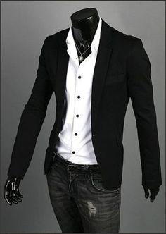 3205ccd6882 blazer entallado forrado Ropa Sport Elegante Hombre, Trajes De Hombre, Moda  Hombre, Moda