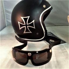 Veja nosso novo produto Capacete Chopper Mais Óculos Tauros! Se gostar,  pode nos ajudar ea83b4c730