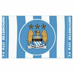 Manchester City FC Official 5ft x 3ft 3 Crest Flag by Manchester City F.C.. $19.35