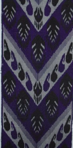 Handmade Blue Uzbek Ikat Fabric