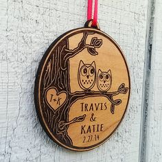 Hey, I found this really awesome Etsy listing at https://www.etsy.com/listing/211294077/love-birds-owl-heart-personalized