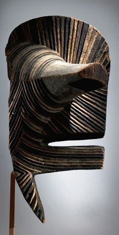 Africa | 'Kifwebe' mask from the Songye people of DR Congo/Angola | Wood and pigment