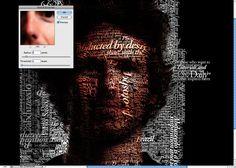 Super Easy Typographic Portrait in Photoshop by abduzeedo #Typographic_Portrait #Photoshop #abduzeedo