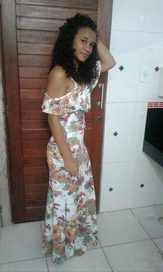 #vestidolongo #cacheada