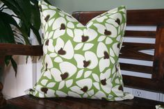 DECORATIVE PILLOW COVER 20x20 Indoor/Outdoor by shopbandw on Etsy, $28.00