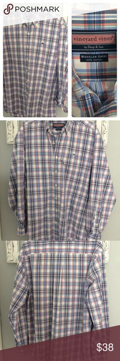 6c3255474889e Men's Vineyard Vines Plaid Wheeler Button Down M Nice Men's Vineyard Vines  Plaid Wheeler Button Down