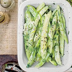 Creamy Basil-Black Pepper Cucumbers | Prepare and chill for up to 24 hours before serving.