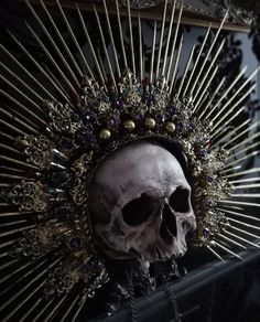 [Macabre Themed Crowns & Halos by Cara Trinder] Daughter Of Smoke And Bone, Greek Gods And Goddesses, Danse Macabre, Vanitas, Lion Tattoo, Character Aesthetic, Memento Mori, Occult, Black Art