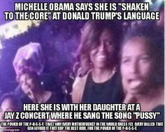 The Mooch doesn't have any problems listening to Jayz song 'pussy' with her daughter.. Fkn hypocrites