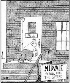 "My dad scanned this comic, blew it up, then used wite-out on ""midvale"" and replaced it with ""Alvarez"" then hung it on our school room door :)"