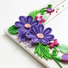 Photo frame Photo frame with flowersHandmade photo frame