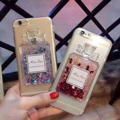 Dior iPhone7 plus ケース クリア ディオール アイフォン7カバー 香水瓶 流れ砂 キラキラ オシャレソフトケース レディース向け キレイ