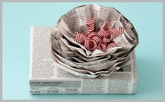newspaper wrapping idea