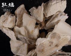 mu li - Oyster shell: http://kampo.ca/herbs-formulas/herbs/borei/