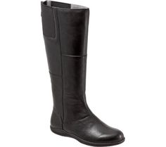 Women's SoftWalk Hollywood Wide Calf Boot - Black Nappa Leather with FREE Shipping & Exchanges. The Hollywood Wide Calf happy bottom boot is sure to enhance your everyday wear. The beautiful