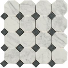 Construction Resources, LLC in Atlanta has a top selection of Maniscalco Natural Stone Flooring, including Daintree Exotic Mosaics - Octagon Bianco Carrara With Nero Dot in x Marble Mosaic, Mosaic Tiles, Mosaics, Natural Stone Flooring, Stone Tiles, Carrara, Barn Wood, Natural Stones, Tile Floor