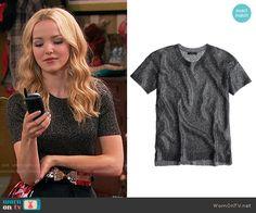 Liv's black metallic top on Liv and Maddie.  Outfit Details: http://wornontv.net/54675/ #LivandMaddie