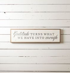 Find this product and many more on our website www.thepaintedporch.co This wall sign serves as a lovely little reminder to give thanks for every blessing! Measures approximately 11.25 x 35.75 Most of our signs are made to order. Please allow 1-2 weeks turnaround when ordering.