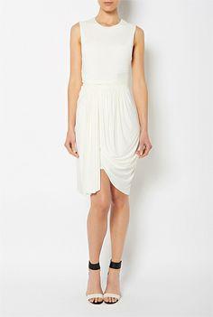 Womens Designer Clothing & Fashion Online   Witchery - Sleeveless Jersey Drape Dress #witcherywishlist