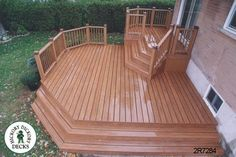 Medium size, mid-height, 2-level deck (#2R7284).