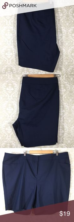 "LANE BRYANT 28 Navy Blue Shorts Stretch flawed Lane Bryant- New Without Tags Women's Size 28 Navy Shorts Stretch One small fabric pull on rear of left side. All measurements are approximate and are measured laying flat. Please use measurements to determine best fit.  Top to bottom:22"" Waist: 24"" Front Rise:14"" Inseam:9"" Hip:29"" Lane Bryant Shorts"