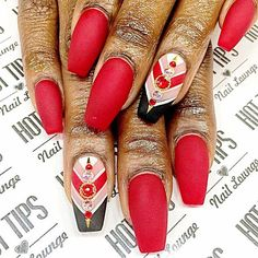 A Girl Should Be Two Things..Classy & Fabulous (nails)! By  @ninahottips