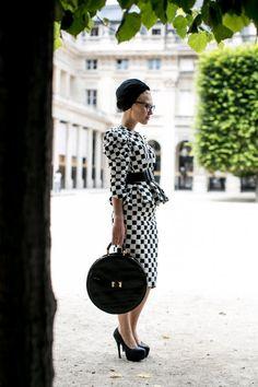 Le bon look pour la Fashion Week : On ose le 100% damier !